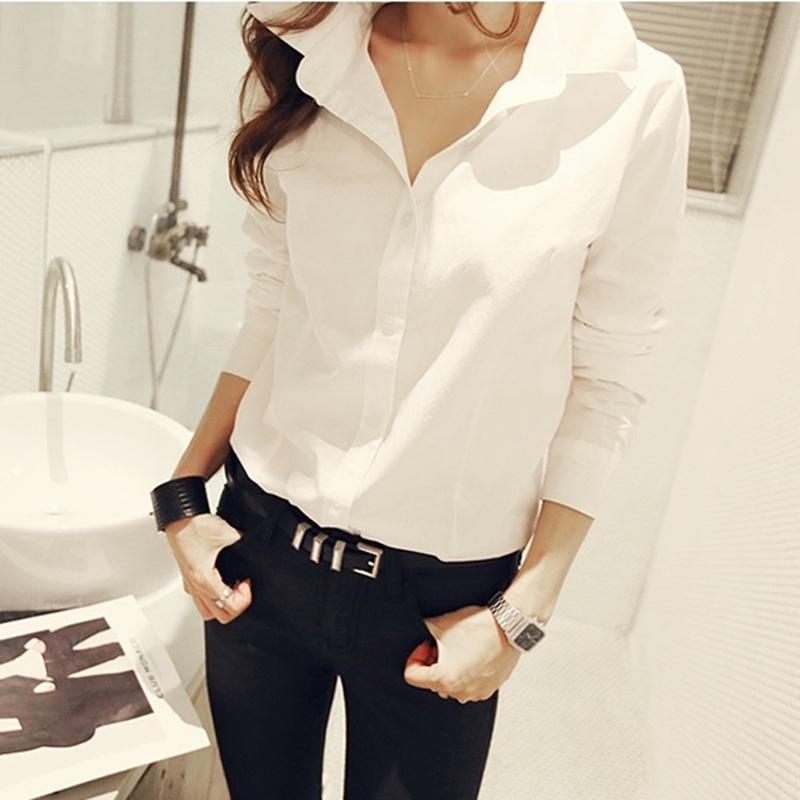 白衬衫女2019年秋装新款韩版休闲百搭时尚上衣洋气设计感小众职业