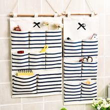杂物收纳袋挂袋袋墙挂式卫生间置物挂钩门后布艺墙挂在墙上的家用