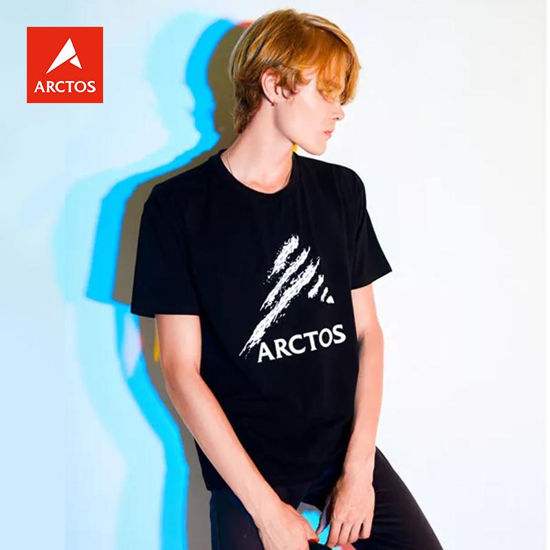 极星ARCTOS夏季圆领棉T恤男女短袖情侣款AGTE11205