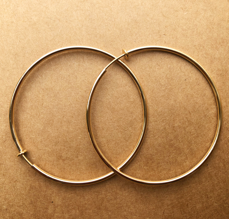 One package Multi Size ear clip big circle European and American fashion simple generous personality big circle exaggerated punk ear ring