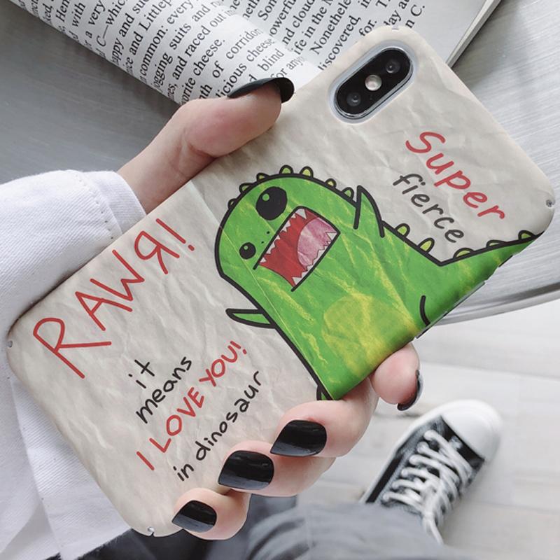 (用19.2元券)可爱绿色卡通恐龙小米8青春手机壳