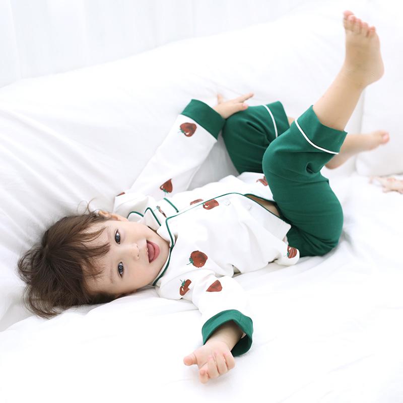 儿童睡衣女春秋季纯棉薄款长袖小女孩中大童套装宝宝家居服夏女童