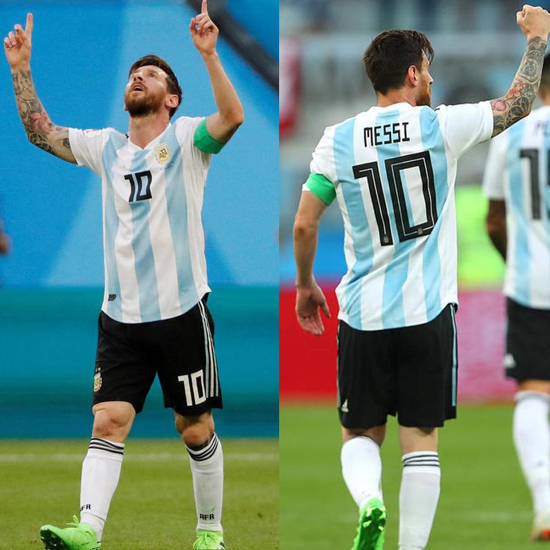 阿根廷球衣梅西2018世界杯足球服套装男2019美洲杯训练服定制队服