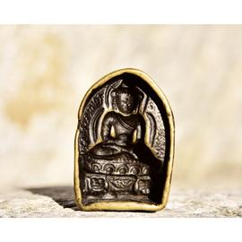 15 - 16 世纪西藏藏地藏西风格高级别释迦牟尼佛擦模图片