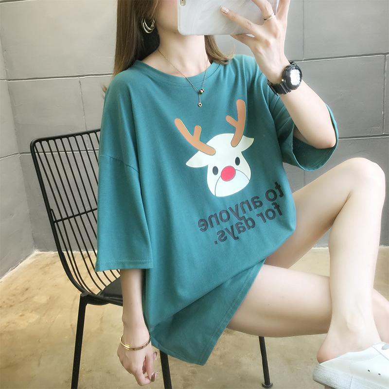 實拍廠家低價直銷現貨新款韓版短袖t恤女ins夏季寬松大碼上衣顯瘦