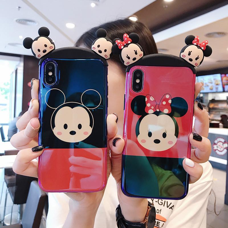 立体卡通耳朵苹果X手机壳iphone7plus蓝光软壳6s硅胶套8x情侣女款