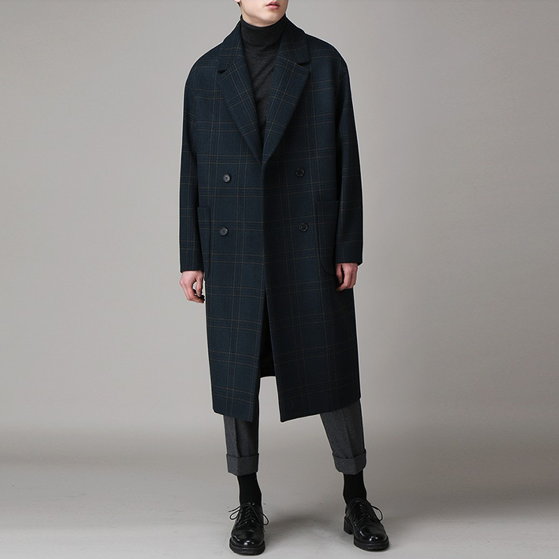 Mens tweed coat with heavy plaid coat for men