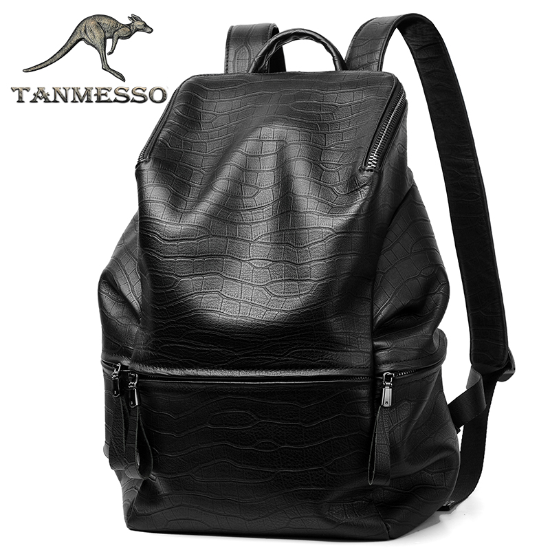 Musco Kangaroo Leather Men's backpack leisure large capacity backpack leather business men's bag travel trend bag