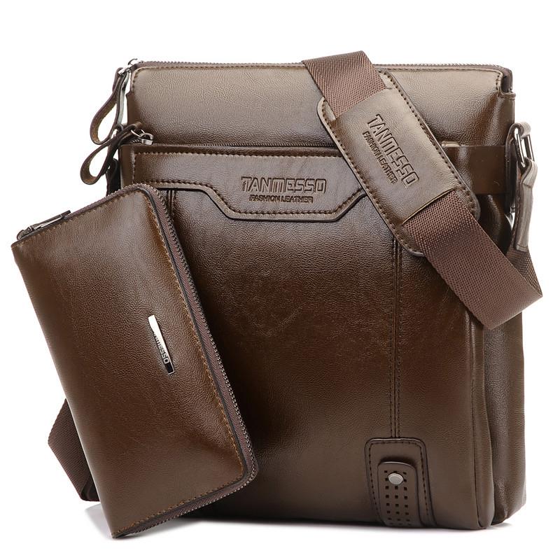 送手包 男包男士單肩包斜挎包商務 包包公文皮包潮流背包豎款