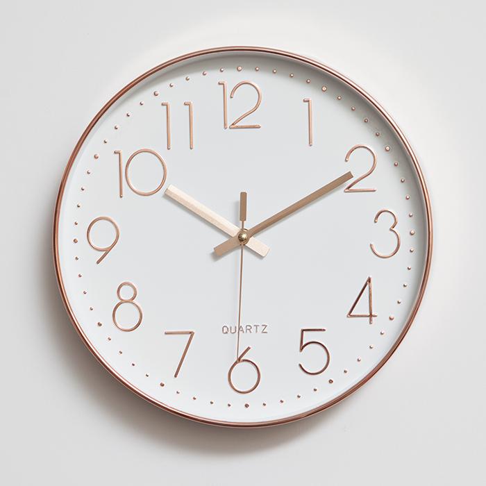 家用数字北欧挂钟简约时尚客厅静音创意挂表静音圆形卧室时钟钟表 Изображение 1