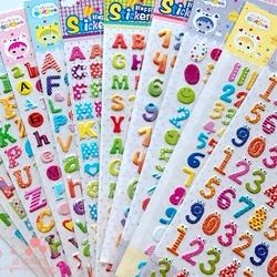 数字英文字母儿童认知早教益智贴纸幼儿园宝宝学习奖励立体小贴画