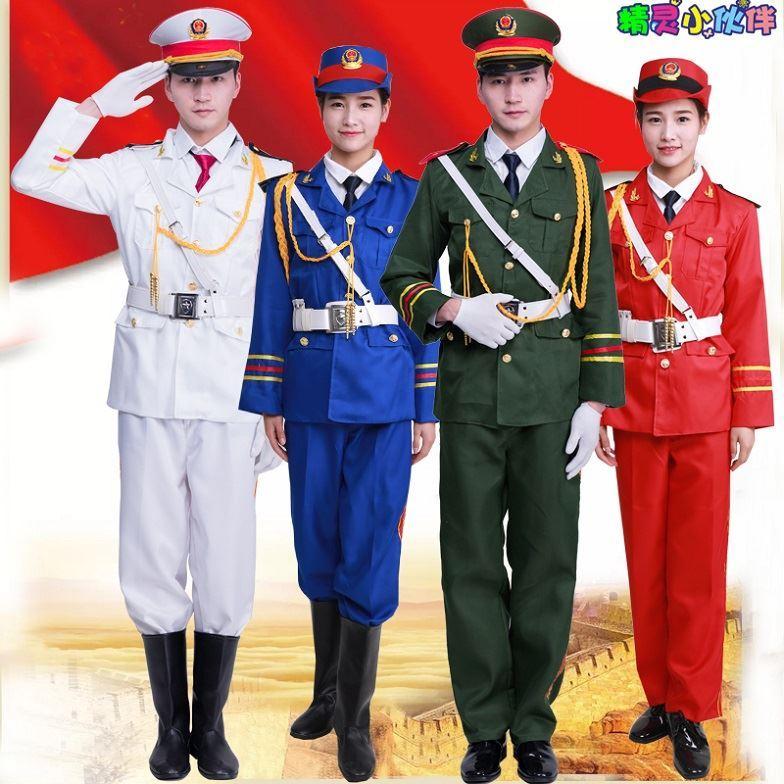 管乐队服装护旗手合唱团手服装成人班三军仪仗队军乐队升旗军鼓