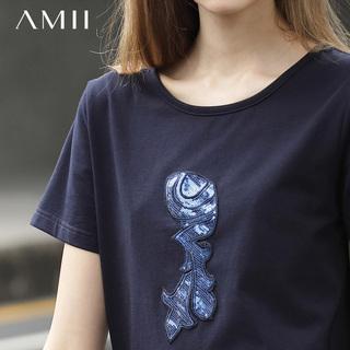 艾米amii女装旗舰店2020春款夏t桖体桖短袖t恤洋气打底衫宽松时尚