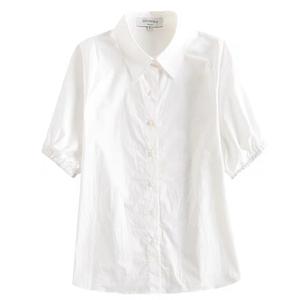 于momo定制韩版设计感港味小众制服白衬衫女潮时尚气质送领带上衣