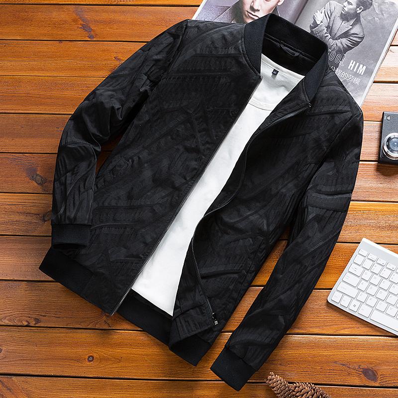 ブルゾン男性2020春秋の中年男性コートのゆったりとしたビッグサイズカジュアルビジネススタンドカラーの運動は通気性のある男性用です。