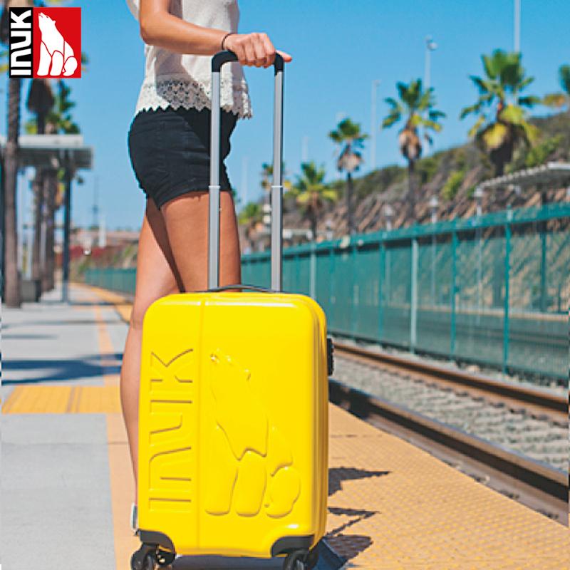 INUK 22寸万向轮拉杆箱男女旅行箱硬箱坚韧PC材质行李箱密码箱