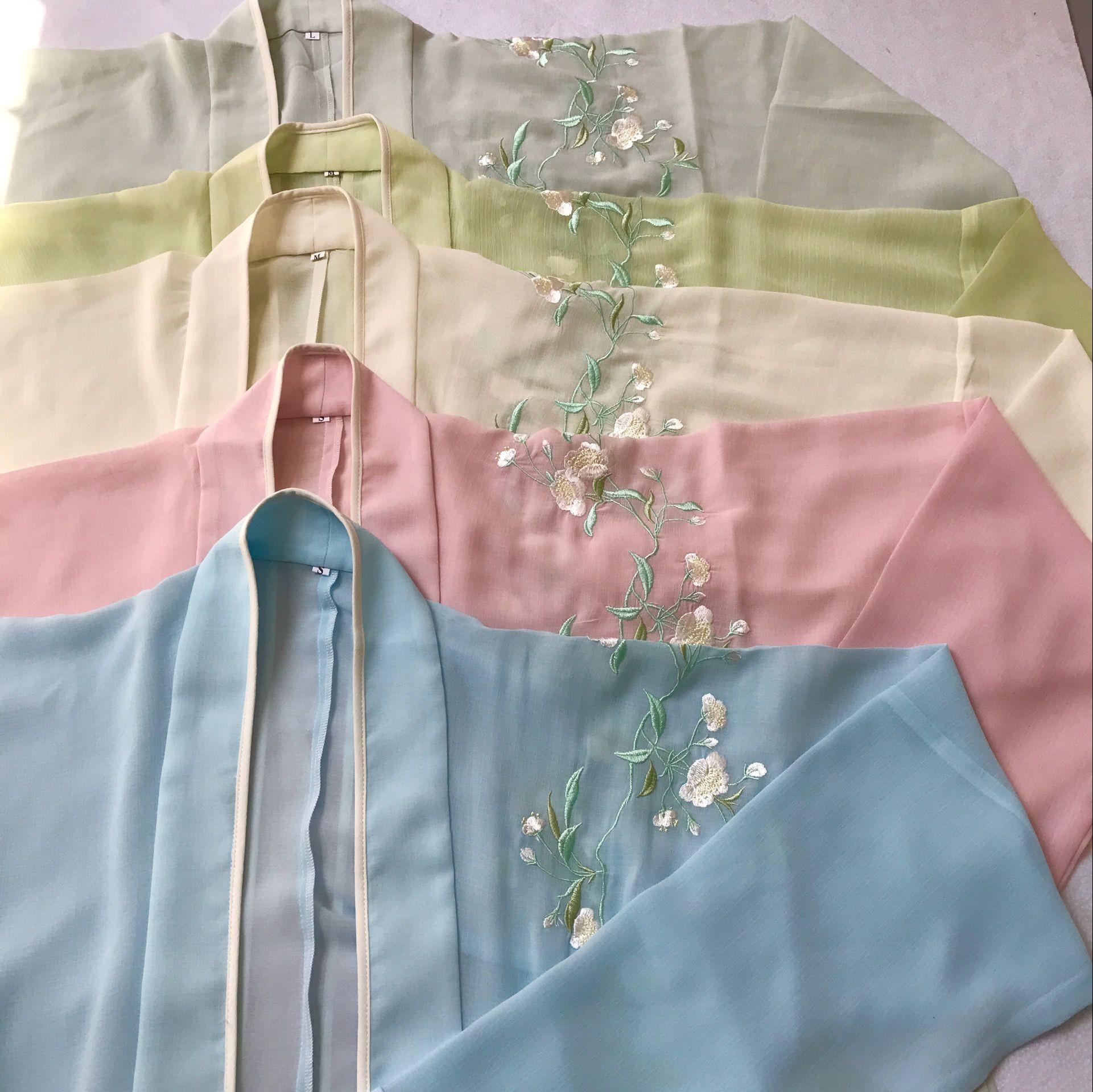 Южная элегантный коллекция — оригинал китайский одежда вышивка Палка один кусочек ткани поверх другого к югу долго Палка один кусочек ткани поверх другого сын весна женские модели снег груша открыто