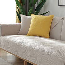 北欧简约纯色沙发垫四季纯棉布艺防滑坐垫冬季通用现代沙发套罩巾