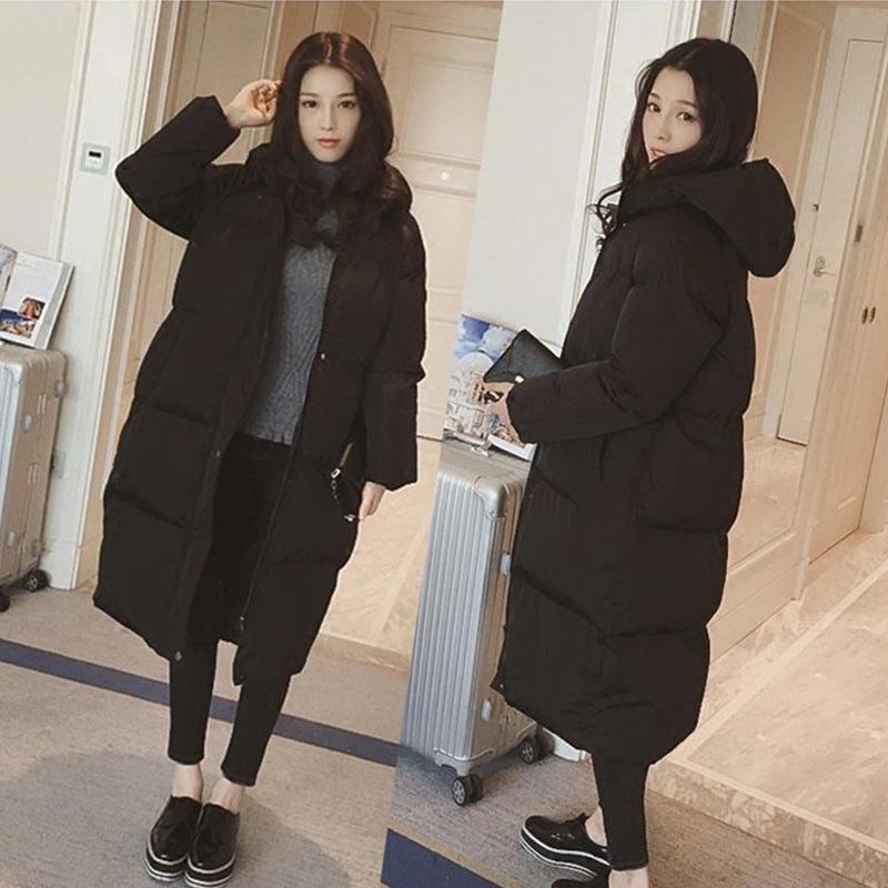 2018冬装羽绒棉衣韩版面包服学生宽松加厚大码中长款女装外套223