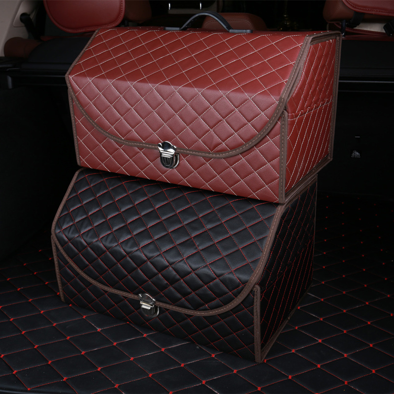 汽車後備箱收納箱儲物箱多 車載整理箱車內置物箱折疊汽車用品