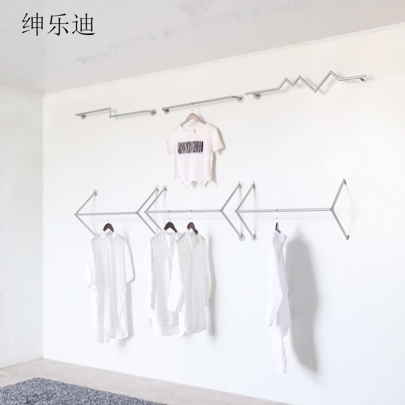 铁艺服装店服装架上墙壁挂个性货架