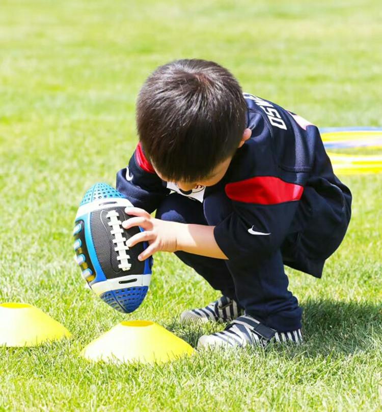 儿童橄榄球3号美式吸汗软皮皮质9号成人橄榄5号青少年防滑橄榄球
