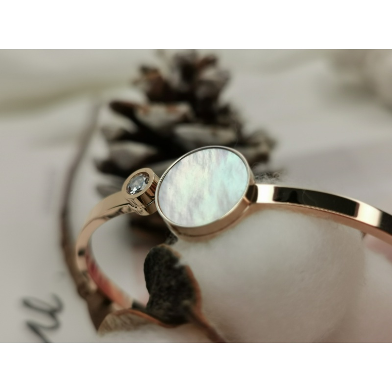 Darling jewelry natural Fritillaria Rose Gold Bracelet