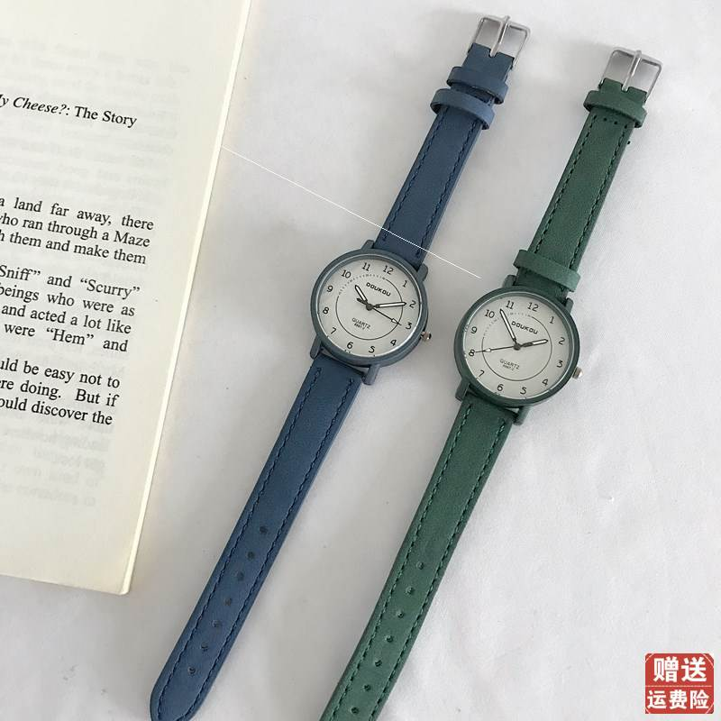 Cardamom watch ancient style female student Korean version simple temperament retro Hong Kong Style Chinese style art college entrance examination