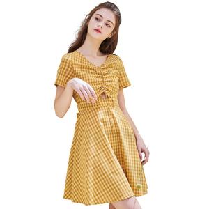 rosel 2021年夏季新款收腰连衣裙