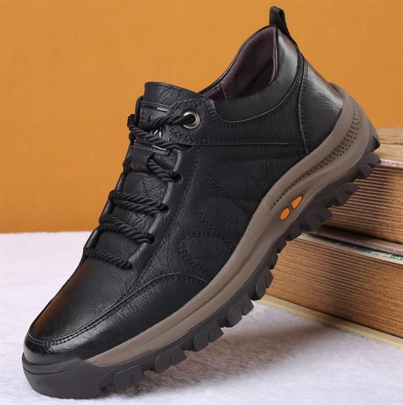 工装男鞋圆头沙漠机车低帮加绒皮面耐磨休闲运动复古上班结实鞋子