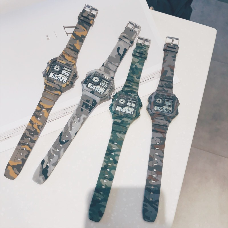 Chinese police super fire electronic watch Korean version for men and women