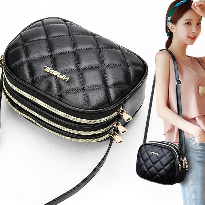 涵涵2019女包韩版时尚潮斜挎包女包迷你菱格单肩斜跨女士小包包。