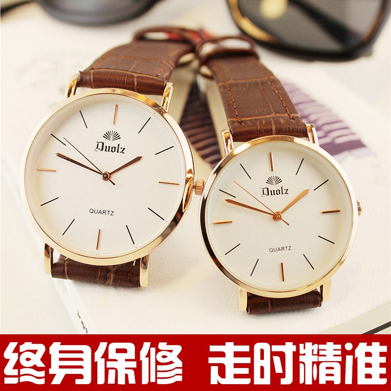 Ancient style watch China Fengsen Department tide watch men and women students waterproof lovers watch ultra thin mens watch stone.