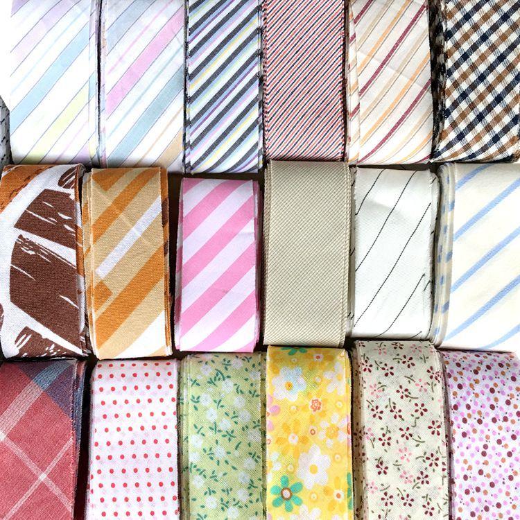 纯棉包边布小碎花滚边条宝宝服装衣领包边薄软布条床单垫子包边条