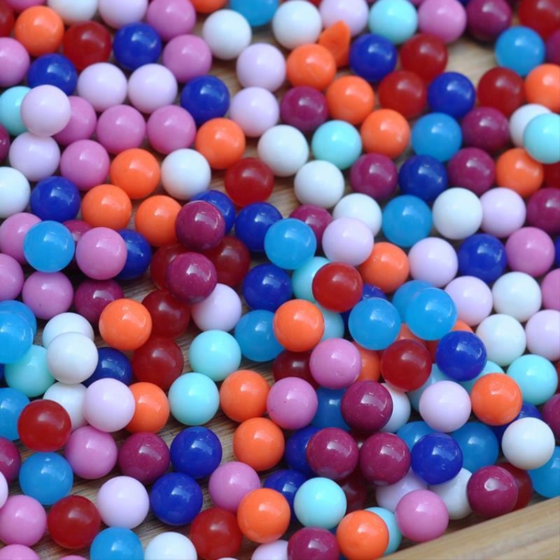 彩色马桶教学高精度概率小球塑料实心球-8mm益智玩具泥球硬弓小学