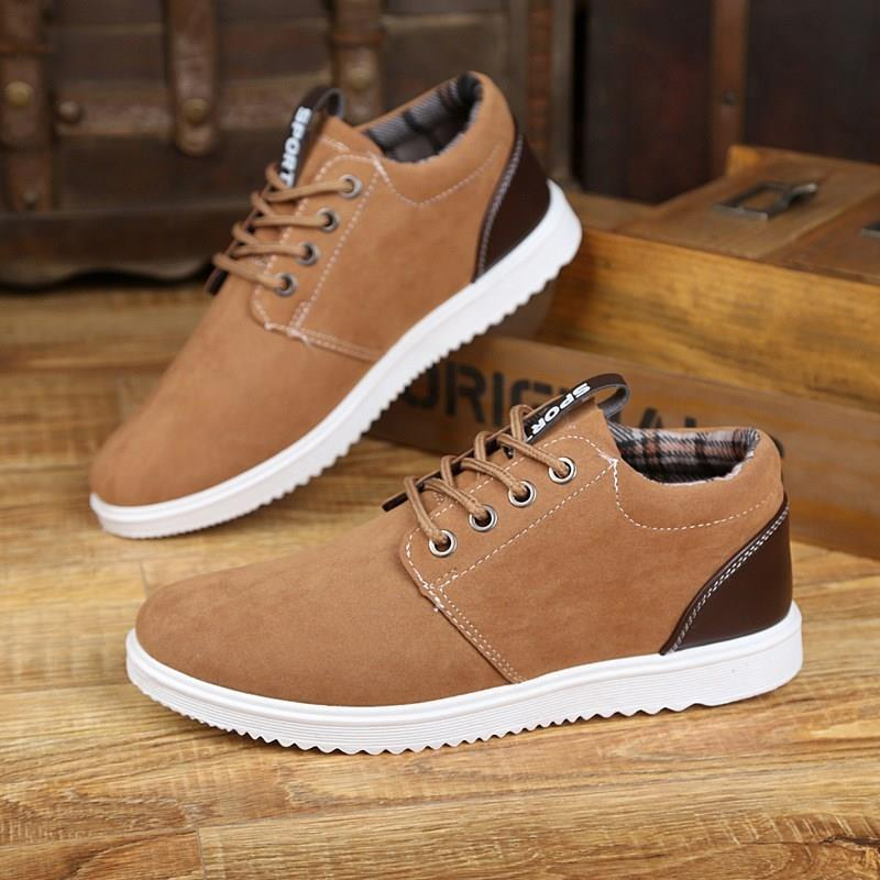 Soft leather square shoes mens thick soled mens shoes high heels business dress canvas shoes work shoes casual shoes
