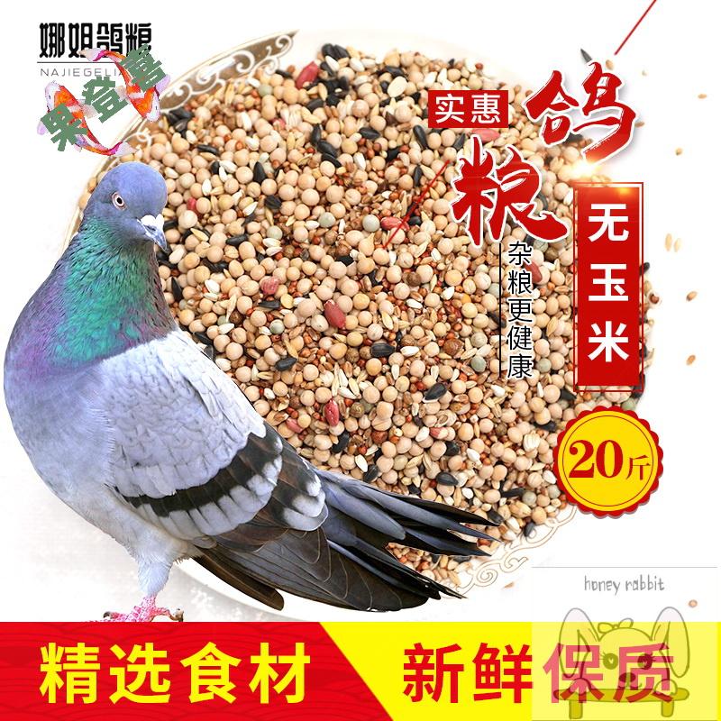 20斤新无玉米鸽子粮食营养饲料鸟食信鸽观赏鸽肉鸽幼-鸽饲料(果登喜旗舰店仅售46.68元)