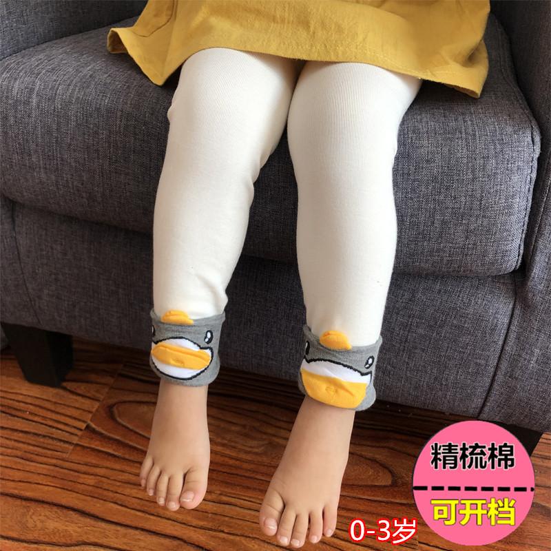 一岁女宝宝春款打底裤6-12个月婴幼儿长裤0-3岁女孩百搭小童裤子五折促销