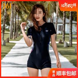 361游泳衣女士连体保守型显瘦遮肚平角运动2019新款潮泡温泉泳装图片