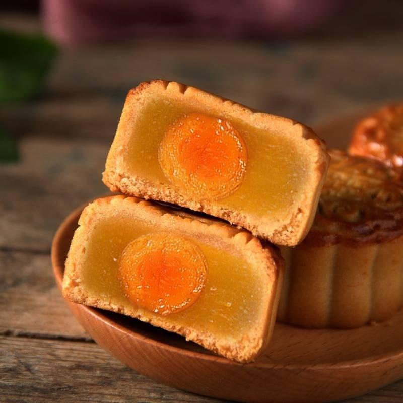 【买三送三】广式蛋黄月饼莲蓉豆沙小月饼糕点零食42g个