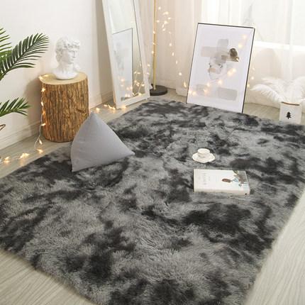 地毯卧室ins北欧风家用房间满铺可爱长毛绒床边毯客厅茶几地垫