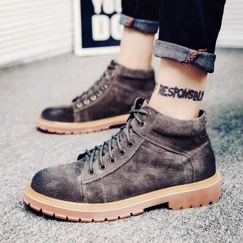 马丁靴男高帮男鞋冬季雪地靴男英伦风短靴工装靴男士靴子男军靴男