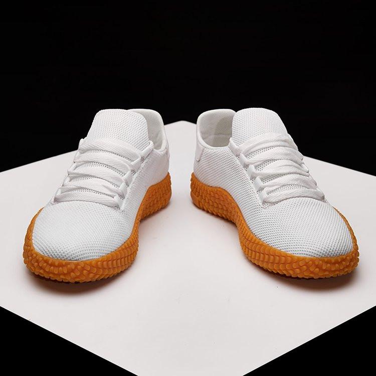 小白鞋男鞋同款帆布鞋厨师工作鞋男透气休闲布鞋潮流大码45网球鞋