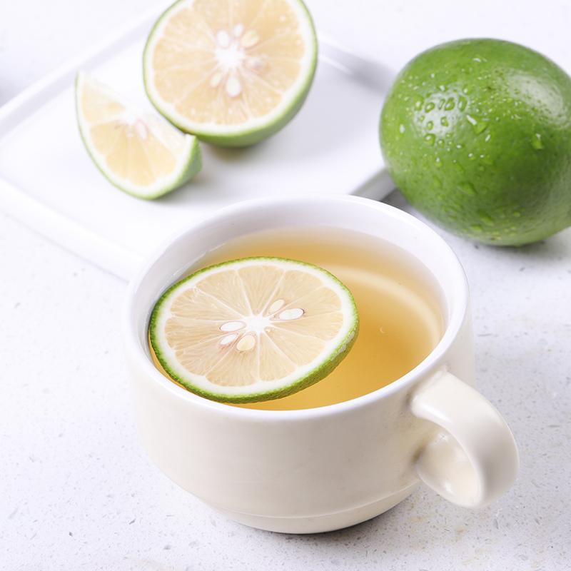 新鲜安岳青柠檬3斤皮薄多汁柠檬片
