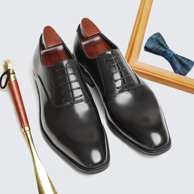 Autumn 2020 new formal leather shoes British style black leather shoes casual business lace up office mens shoes