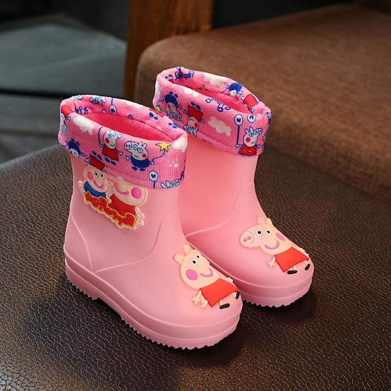 卡通儿童雨鞋男童女童宝宝雨靴幼儿防滑公主可爱水靴两用小孩水鞋,可领取3元天猫优惠券