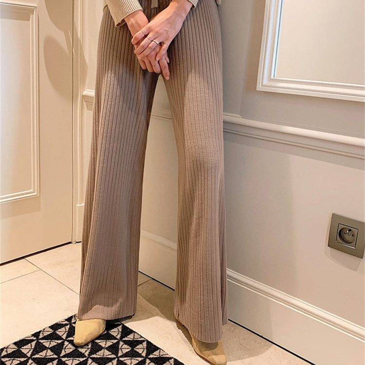 New cashmere wide leg pants for women in autumn and winter