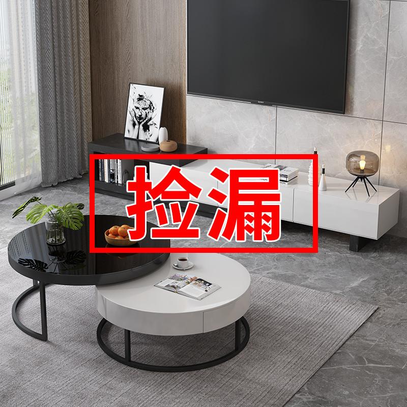 茶几电视柜组合现代简约可伸缩电视柜客厅家用小户型北欧轻奢茶几好用吗