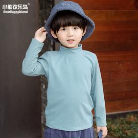 儿童宫德绒高领打底衫长袖秋冬款男童女童休闲纯色t恤保暖内搭衫图片