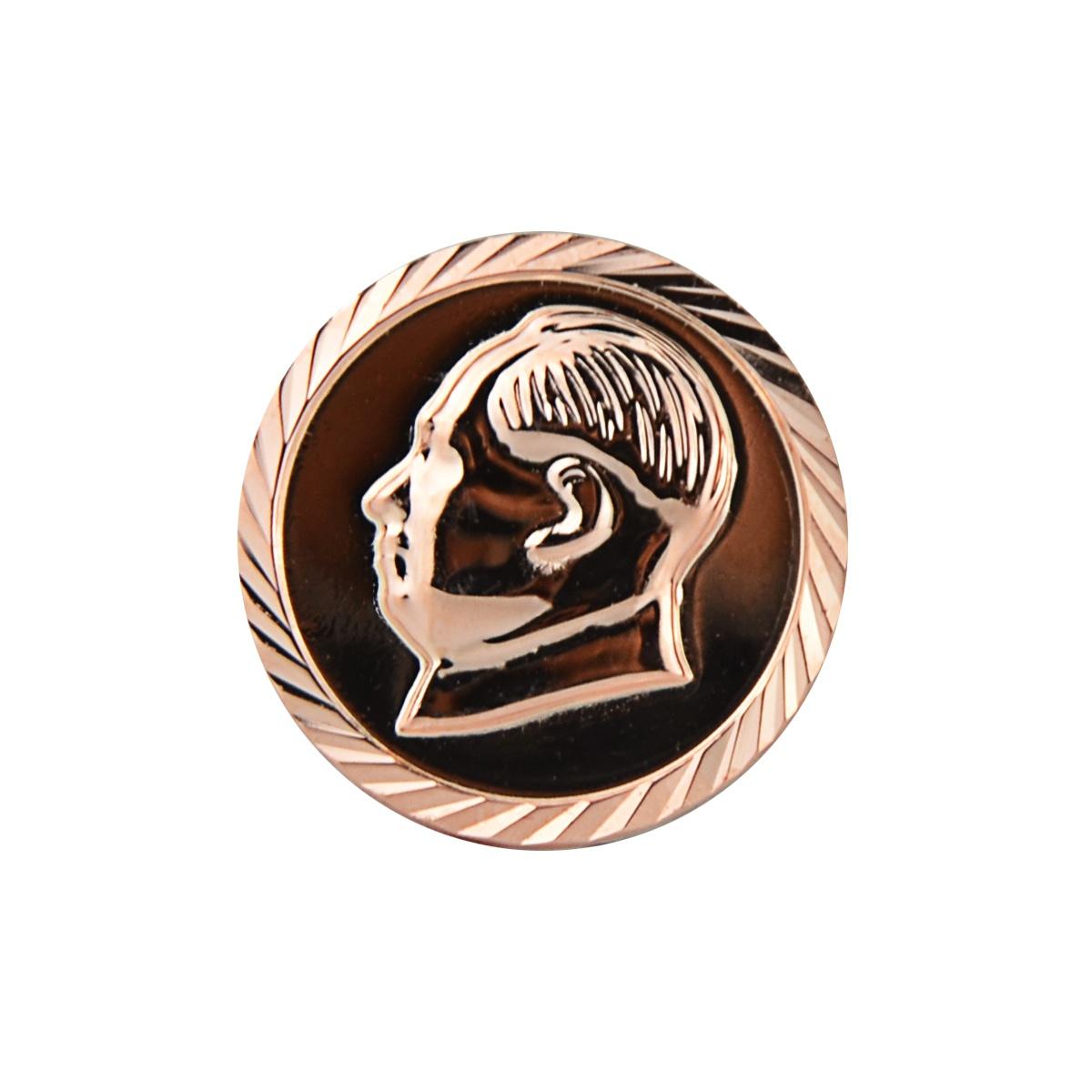 毛主席纯银990足银彩银胸针饰品伟人毛泽东纪念像章配饰西服徽。